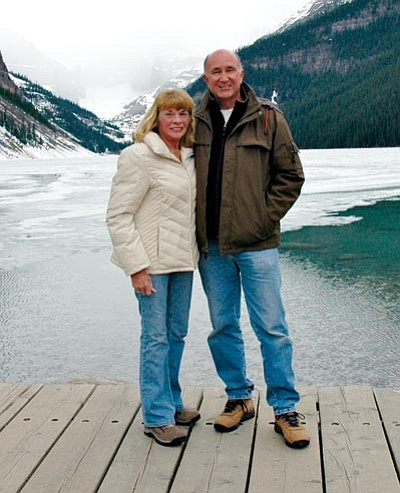 "Courtesy<BR> Pat and Judy Barry during their one-year trip around the United States. Their travels served as the inspiration for their self-published book, ""Hello America, How Are You?"""