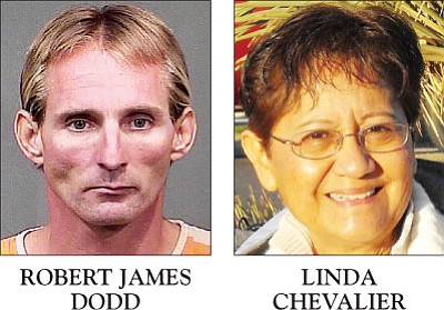 Robert James Dodd is accused of causing the death of Linda Chevalier because he was fleeing law enforcement.