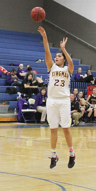 Kingman High's Desirae Gonzalez is a first-team Division II all-state selection. The junior led the state (boys and girls) with a 29.7 scoring average. (File photo)