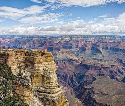 Summer clouds form over Mather Point on the Grand Canyon's South Rim. (NPS/Courtesy)