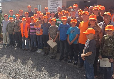 There were 40 graduates from the most recent Arizona Hunter Education Class in Mohave County. (Courtesy)