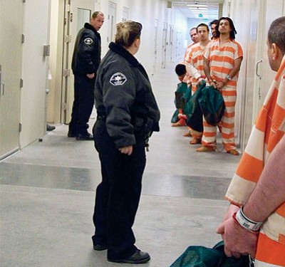 Courtesy/MCSO<BR> More than 500 inmates are in the custody of the Mohave County jail in Kingman on any given day, and they have a right to medical care paid for by taxpayers. A recent law pushed for by Sheriff Jim McCabe will help lower those costs.