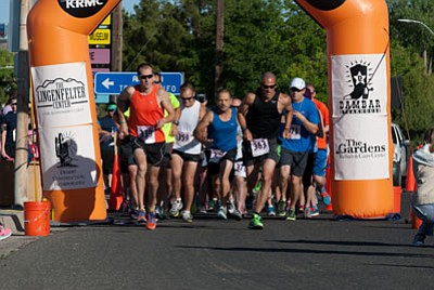The start of the 11th Annual Route 66 Race for Hospice in May 2014. (Courtesy)