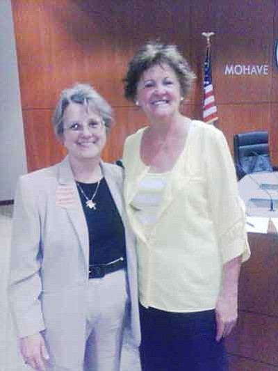 Arizona State Superintendent Diane Douglas (left) and Dorothy Buckelew
