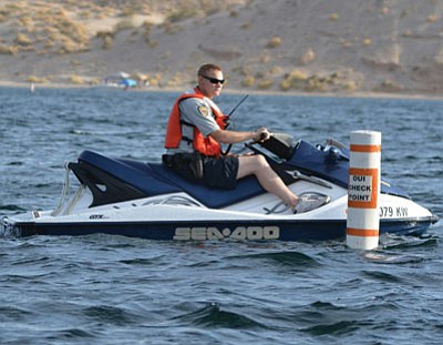 Law enforcement officers from two states and the federal government will be on the lookout for impaired watercraft operators on Mohave County waterways this weekend, the first of many operations that will take place during the 2015 boating season. (Courtesy)