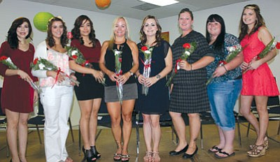 Courtesy<BR> Mohave Community College awarded pins to eight surgical technology students on May 14 to signify their completion of the program. Pictured from left are Velia Salazar, Della Lopez, Yaritssa Marin, Andrea Koeneker, Brandice Johnson, Sarah Gibb, Jessica Robinson, and Victoria Rudder.