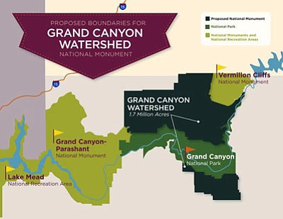 """Map courtesy of Grand Canyon Wildlands Council. <b><a href=""""http://kingmanads.com/images/grand_canyon_watershed"""" target=""""_blank"""">Click here to enlarge</a></b>"""