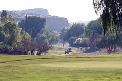 JC AMBERLYN/Miner<BR> A scene at Cerbat Cliffs Golf Course Friday.