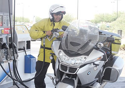 Travelers like Sanjay Dixit, from San Francisco, Calif., bring sales and fuel tax revenue into Mohave County each day.