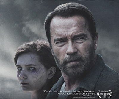 """Arnold Schwarzenegger and Abigail Breslin star in """"Maggie,"""" another take on the zombie tale. (Courtesy)"""