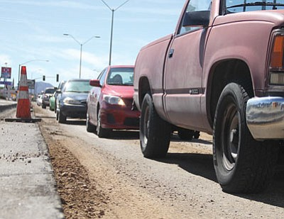 Kingman will support full restoration of Highway User Revenue Funds when Mayor Richard Anderson attends the Arizona League of Cities and Towns annual conference next week. The city depends on HURF to fund roadwork and street maintenance. (DOUG McMURDO/Miner)