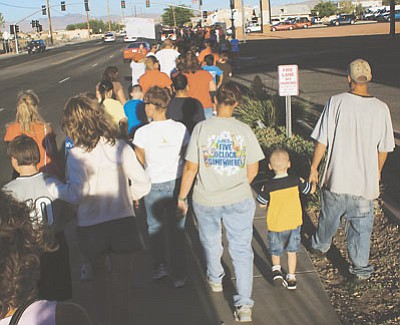 Hundreds of residents participated in the 2008 Walk Away from Drugs Public Safety Expo. (JC AMBERLYN/Miner)