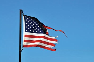 Does the American flag you're flying look like this? Let's hope not. (BUTCH MERIWETHER/Courtesy)