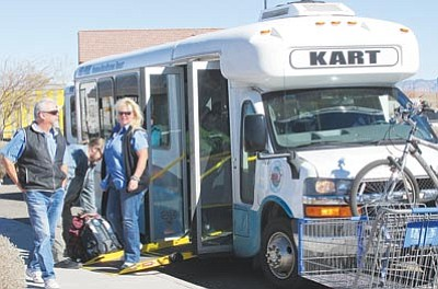 KART is offering free rides on its four regular routes, and free shuttle service to the downtown Best of the West on 66 Festival Saturday. (DOUG McMURDO/Miner)