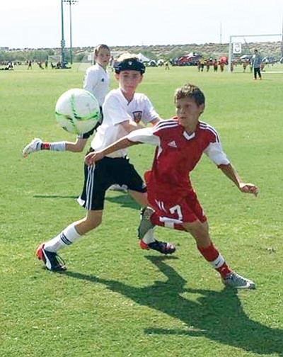 Courtesy<BR> Kingman's Gabriel Otero will compete for a spot on the state's 13U soccer team.