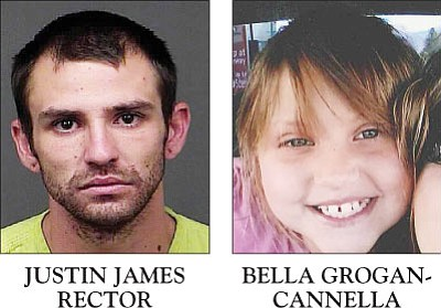 Justin James Rector is charged in the death of Bella Grogan-Cannella.