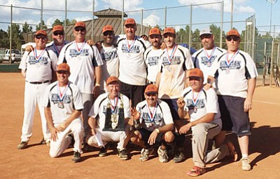 The Kingman Senior Softball team posted a 6-3 record and took second at the World Masters Tournament in Las Vegas Oct. 2-4. (Courtesy)