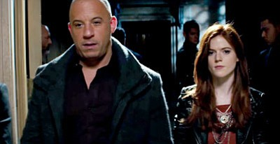"Vin Diesel and Rose Leslie in ""The Last Witch Hunter"" (Summit Entertainment)"