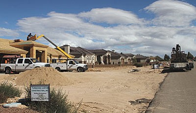 Construction on Southern Vista Drive, photographed Tuesday. (JC AMBERLYN/Miner)