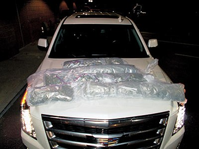 Mohave County deputies seized 18 pounds of marijuana in a traffic stop last week. (Courtesy)