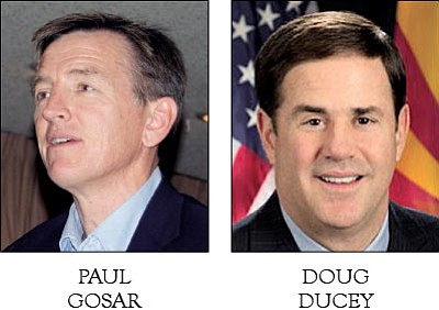 U.S. Rep. Paul Gosar, R-Ariz.; Arizona Gov. Doug Ducey