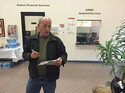 Kenneth Barth figures his premium for the lowest-cost bronze plan under the Affordable Care Act, or Obamacare, is about 80 percent higher in Mohave County than Maricopa County. (HUBBLE RAY SMITH/Miner)