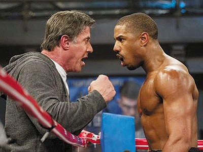 Sylvester Stallone and Michael B. Jordan in 'Creed.' (Warner Bros./Courtesy)