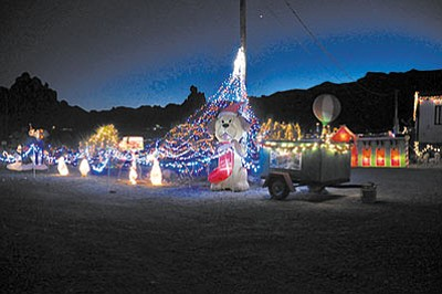 About 100 blowups, 70,000 lights and a bunch of other cool-looking holiday items are currently on display at 2225 S. Dome Road in Golden Valley. (Courtesy)