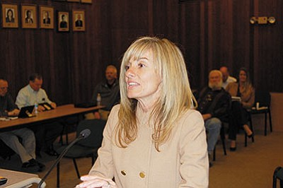Kingman Finance Director Tina Moline, pictured, and City Manager John Dougherty took the action against Heinfeld, Meech and Co., a Phoenix-based accounting firm. (DOUG McMURDO/Miner)