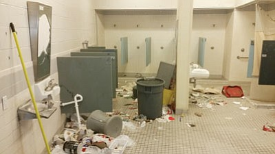 Widespread rioting severely damaged the prison in July. (ADOC/Courtesy)