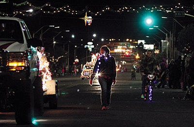 JC AMBERLYN/Miner<BR> A scene from this year's Very Merry Parade of Lights organized by the Route 66 Trailblazers Rotaract Club and held downtown on Dec. 5