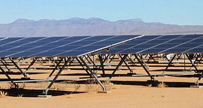 JC AMBERLYN/Miner<BR> Solar panels at La Senita Elementary School.