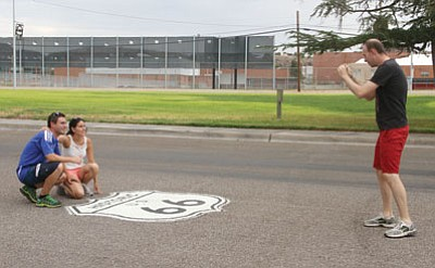 Jose Lopez, Maria Ajamil, Nuria Vicario and Raul Gil traveled from Spain to tour Route 66. (JC AMBERLYN/Miner)