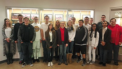 Courtesy<BR>Back row, from left to right – Taylor Cook, George Vollmer, Michael Olson, Chase Walther, Gabriel Sumner, Mina Guirguis, Maverick San Antonio, Conner Camacho and Braden Spencer; front row (left to right): Michael Sizemore, Meah Wilson, Chloe Paterson, Dakotah Gerlach, Alex Tempert, Jerina Winter Gabriel, Emilio Roybal and Colton Samstag.