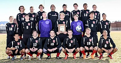The 2015-2016 Lee Williams boys soccer team became the first Kingman-based high school squad to make the state playoffs since 2007-2008.  (Courtesy)