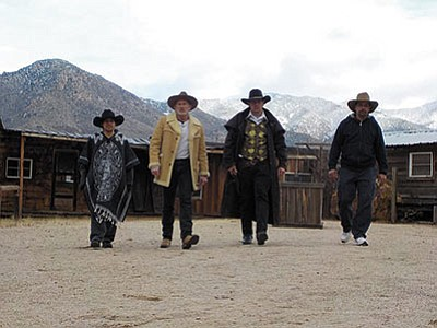Courtesy<br /><br /><!-- 1upcrlf2 -->Mark Hamson, second from left, has started Shuriken Promotions in Kingman to bring family events to the area. His company is also involved in shooting a commercial for Boyd's Outlaw Sleep Center. (Courtesy)