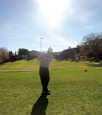 DOUG MCMURDO/Miner<br> The proposal to build a pipeline from the Hilltop Wastewater Treatment Facility to Cerbat Cliffs Golf Course would cost an estimated $8.2 million.