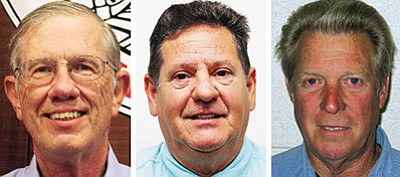 Left to right: Mayor Richard Anderson, challengers Joe Longoria and Harley Pettit