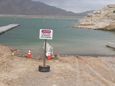 Repairs to the South Cove launch ramp on Lake Mead are complete. (DON MARTIN/For the Miner)