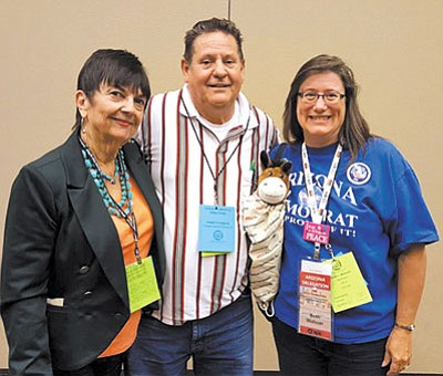 Lorraine Rychil, Joe Longoria and Beth Weisser will attend the Democratic National Convention in Phildelphia this summer. (Courtesy)