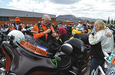 Some participants in Run for the Wall, an annual motorcycle ride from California to Washington, D.C., in support of veterans, claim the Kingman Police Department disrespected them when they came through Kingman May 18. Deputy Police Chief Rusty Cooper said the department didn't allow the group to conduct its own traffic control because it lacked the proper permits and insurance. (AARON RICCA/Miner)