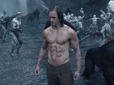 "Alexander Skarsgård has the requisite action movie abs for ""Tarzan,"" but they may or may not be historically accurate. (Courtesy)"