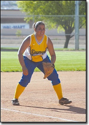 JC AMBERLYN/Miner<br> Sarah Mayo has set goals in her life, including backpacking across Europe. One of her earliest goals was to play college softball, which she will do for Pima Community College in Tucson.