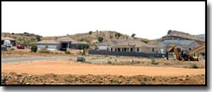 LORIN McLAIN/Miner<br> These homes are in the Granite Bluffs subdivision off Hualapai Mountain Road.