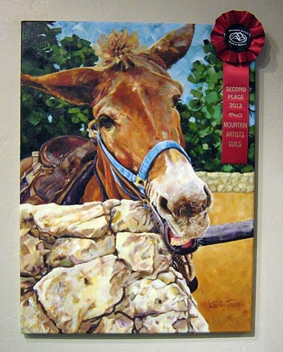 "Courtesy photo<br> ""Mule-Headed Oil"" by Kristy Tracy is part of the ""Art and Soul"" exhibit at Mountain Artists Guild & Gallery."