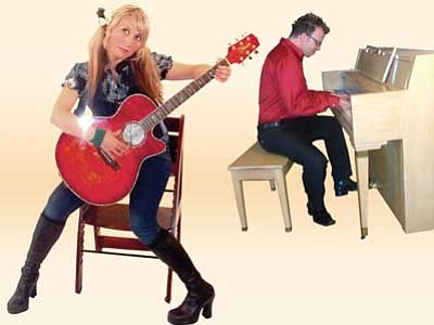 Courtesy photos<br> Tres and Jen Ikner are Dutch Holly, appearing Friday, Feb. 22 at the Drunken Lass on Gurley Street in Prescott.