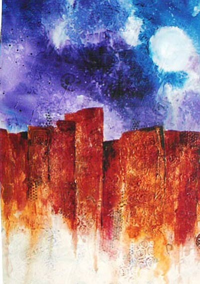 """Canyon at Night,"" by Annette Olson, on display at 'Tis Art Center & Gallery."