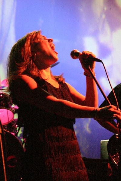 Courtesy photo<br> Jennifer Taber belts out vocals during a Great Gig in the Sky performance.