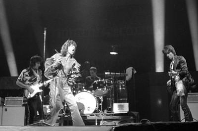The Stones performing in Frankfurt, Germany on April 28, 1976.<br>   Kurt Strumpf/The Associated Press