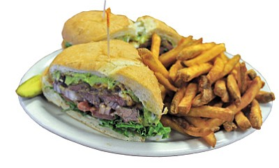 The Redneck Steak sandwich is a local favorite  <br /><br /><!-- 1upcrlf2 -->